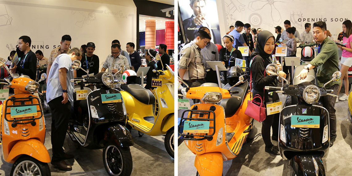 PT Piaggio Indonesia Spoils Central Park Mall Visitors with Four Premium Italian Brands