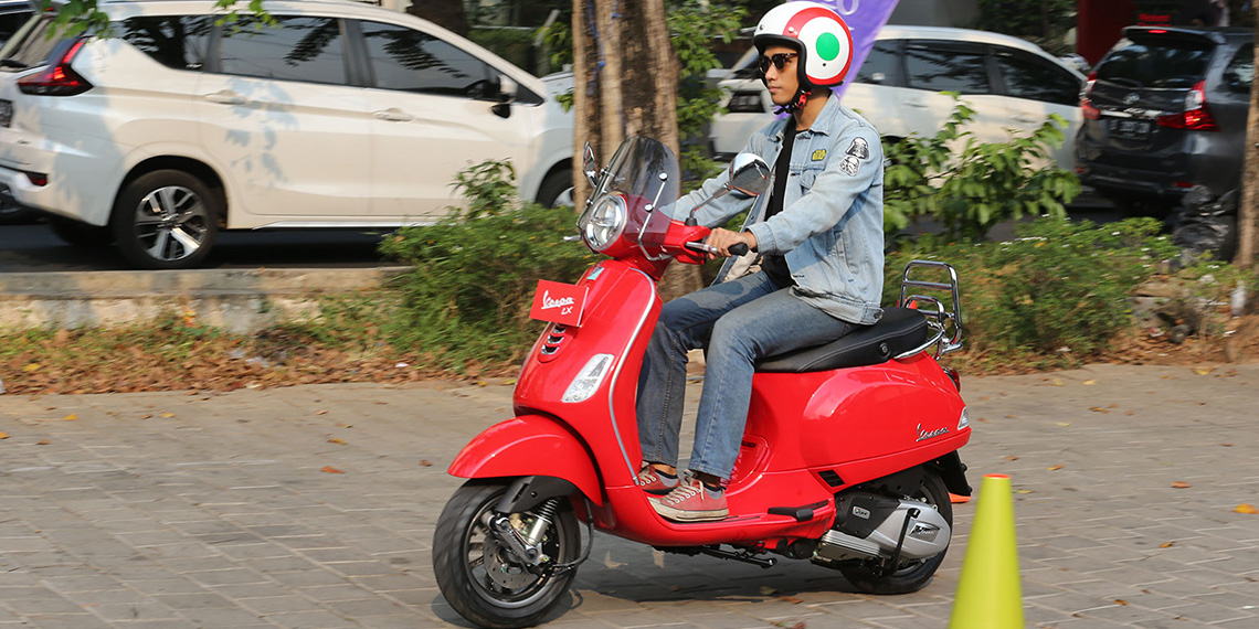 A fresh breeze to New Vespa LX 125 i-get