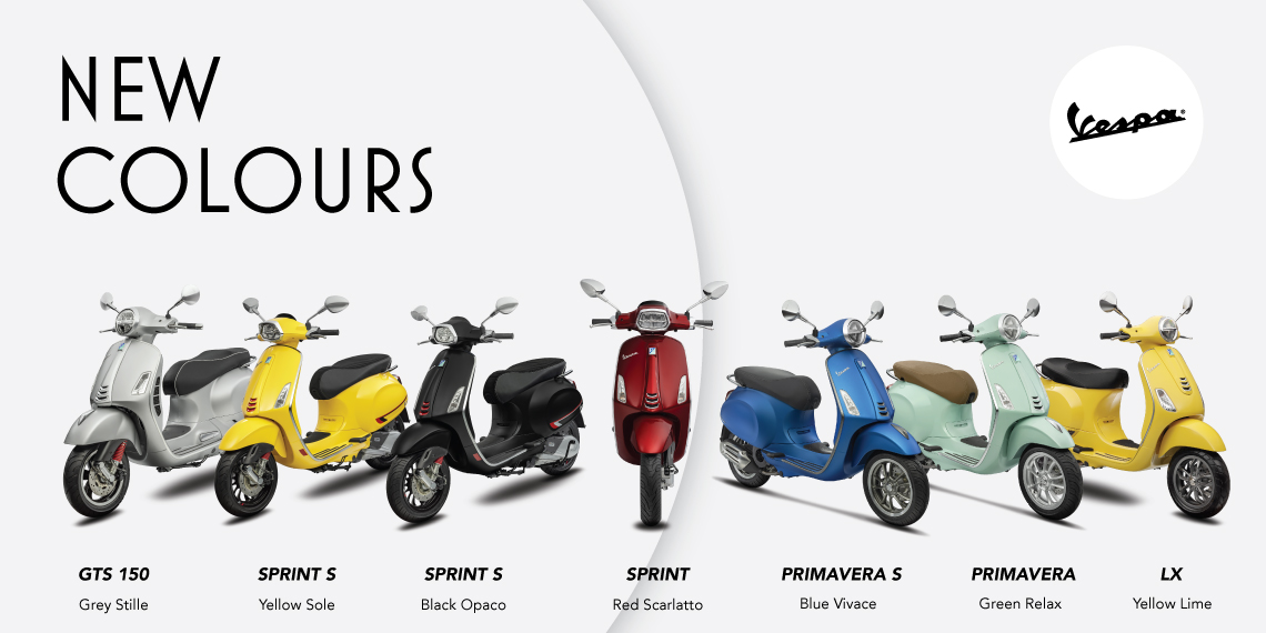 7 New Vespa Attractive Colors for More Fun and Stylish Experience