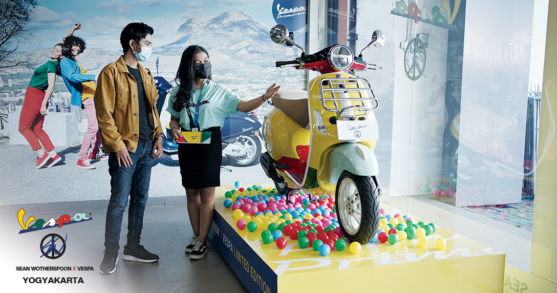 Experience the World's Most Colourful Vespa Primavera Sean Wotherspoon in Selected Piaggio Vespa Motoplex Dealership