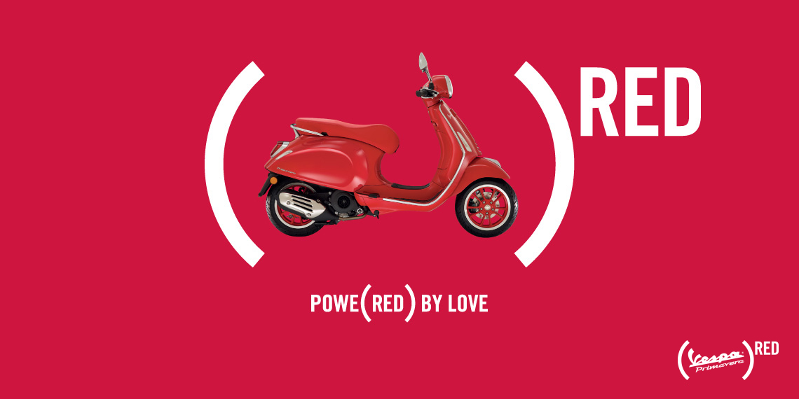Vespa Wears Red in support of the Global Fund to Fight Against AIDS, with the Launch of (VESPA PRIMAVERA)RED