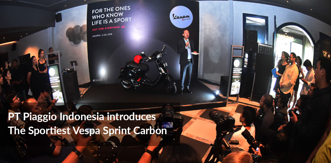 PT Piaggio Indonesia introduces The Sportiest Vespa Sprint Carbon