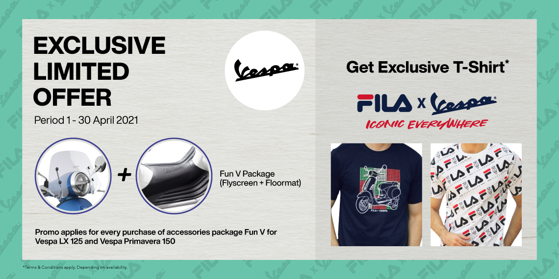 Exclusive Fila × Vespa Limited Offer